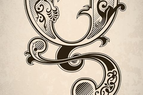 Ornate Q Poster